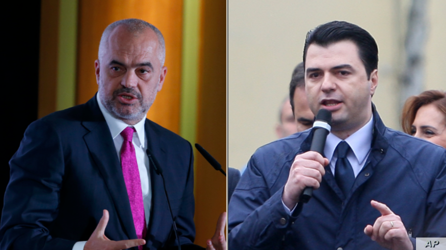 Edi Rama, Prime Minister and Lulzim Basha, opposition leader