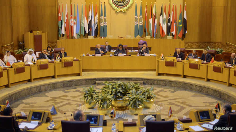 Arab League representatives meet in Cairo to discuss the possible move of the U.S. Embassy in Israel to Jerusalem, Dec. 5, 2017.