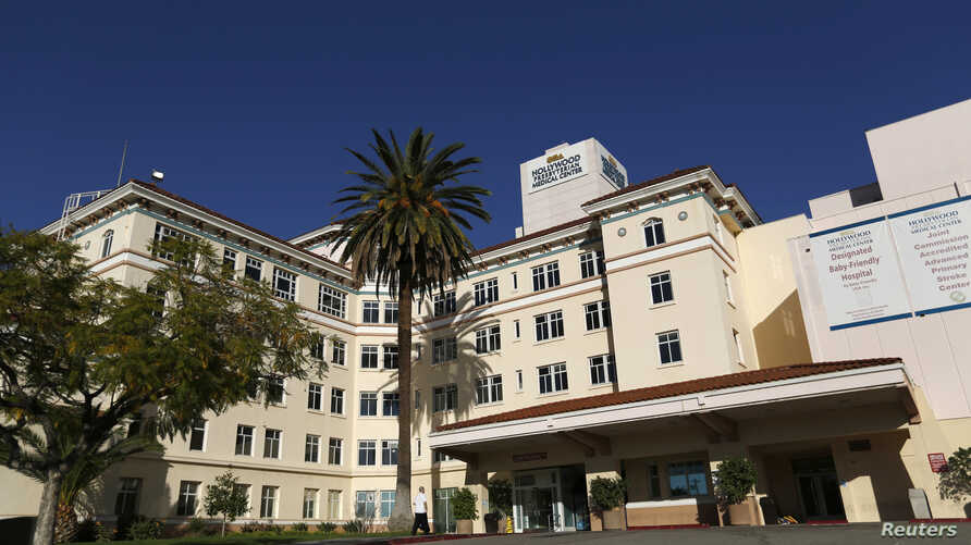 The Hollywood Presbyterian Medical Center is pictured in Los Angeles, California, Feb. 16, 2016. The FBI is still investigating a cyber attack that locked down the hospital's electronic database for days, pending payment of ransom, and forced doctors