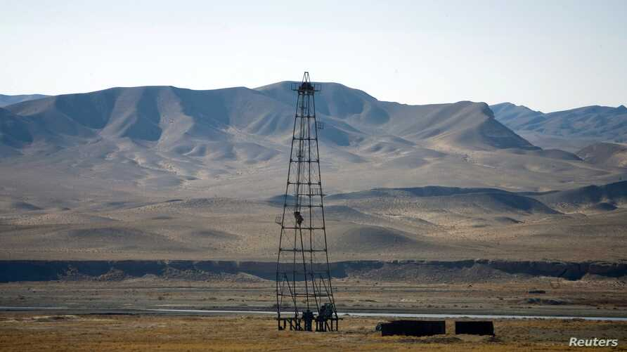 An oil installation in an area near Herat, Afghanistan, December 17, 2009.