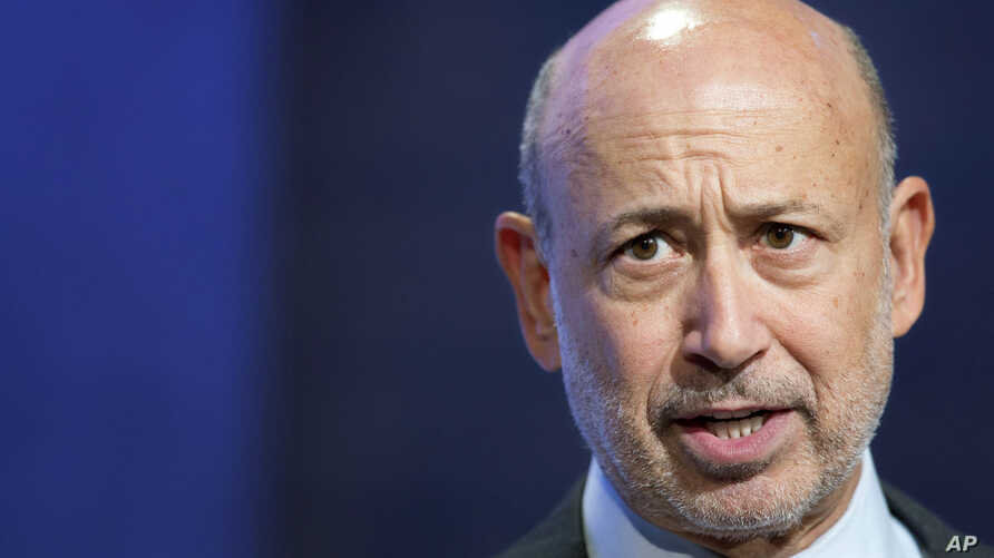 FILE - In this Sept. 24, 2014, photo, Lloyd Blankfein, Chairman and CEO of Goldman Sachs, speaks during a panel discussion at the Clinton Global Initiative, in New York.