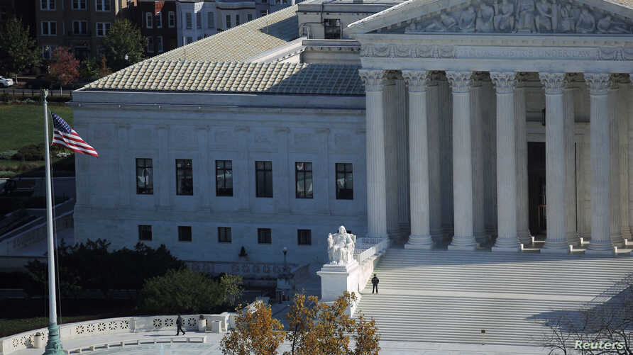 A view of the U.S. Supreme Court building in Washington, Nov. 15, 2016.