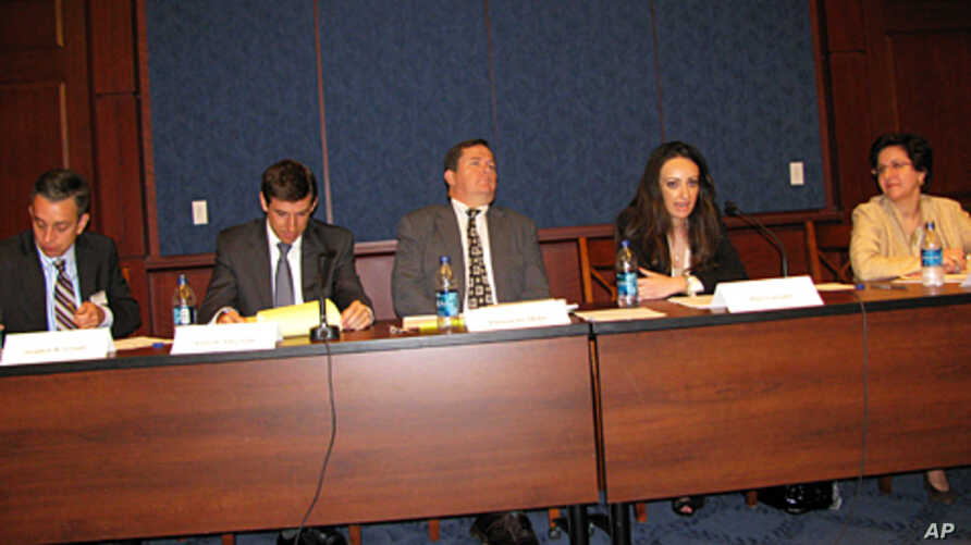 Panel discussion reviewing whether Obama administration has used available leverage to influence political reform in Egypt
