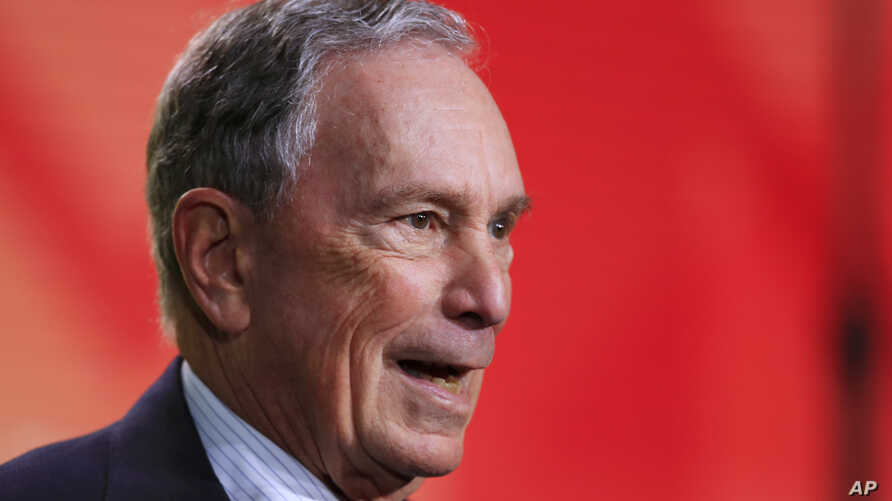 Former New York City Mayor Michael Bloomberg speaks to the U.S. Conference of Mayors meeting in Washington, Jan. 25, 2019.