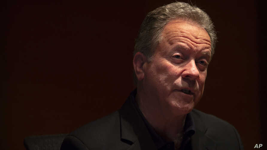 World Food Program (WFP) Executive Director David Beasley speaks during an interview in Beijing, May 11, 2018.