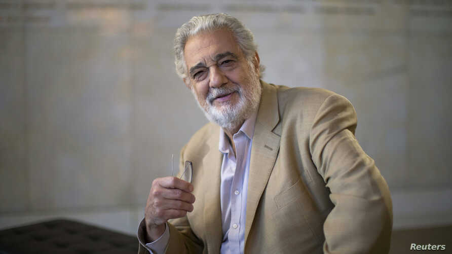 Spanish opera singer Placido Domingo poses for a portrait at the Dorothy Chandler Pavilion in Los Angeles, California, June 3, 2014.