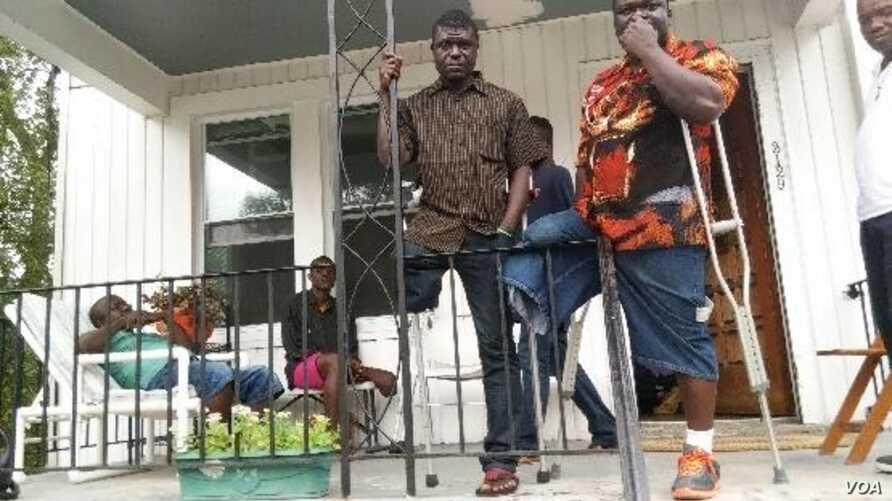 Liberian amputees in front of their home in Washington, D.C.