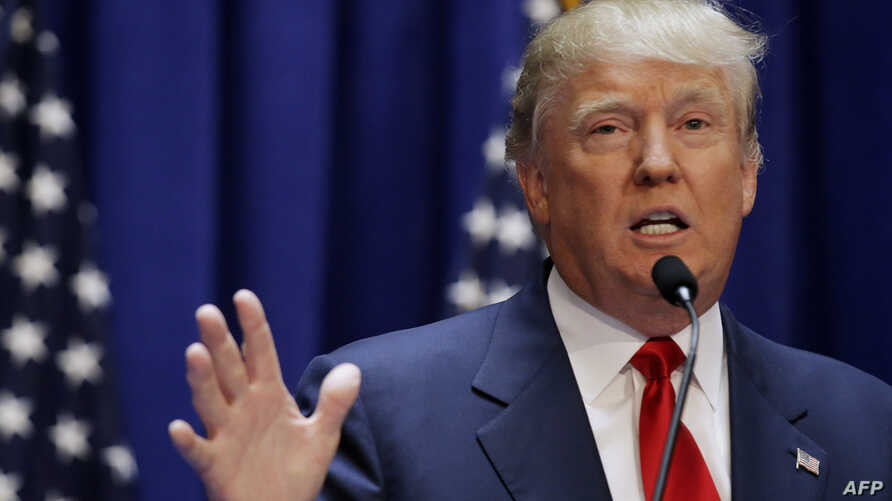U.S. Republican presidential candidate, real estate mogul and TV personality Donald Trump formally announces his campaign for the 2016 Republican presidential nomination during an event at Trump Tower in New York, June 16, 2015.