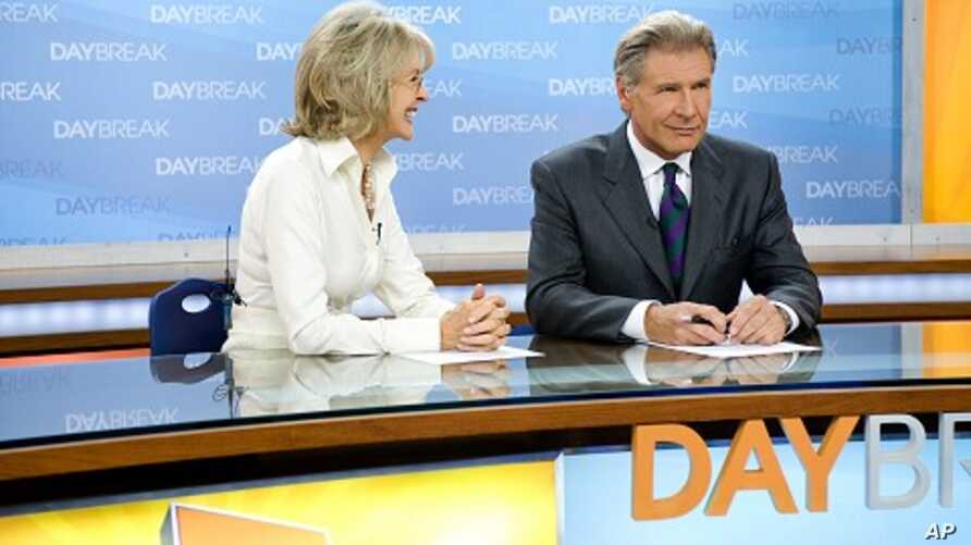 Left to right: Diane Keaton plays Colleen Peck and Harrison Ford plays Mike Pomeroy in Paramount Pictures' MORNING GLORY