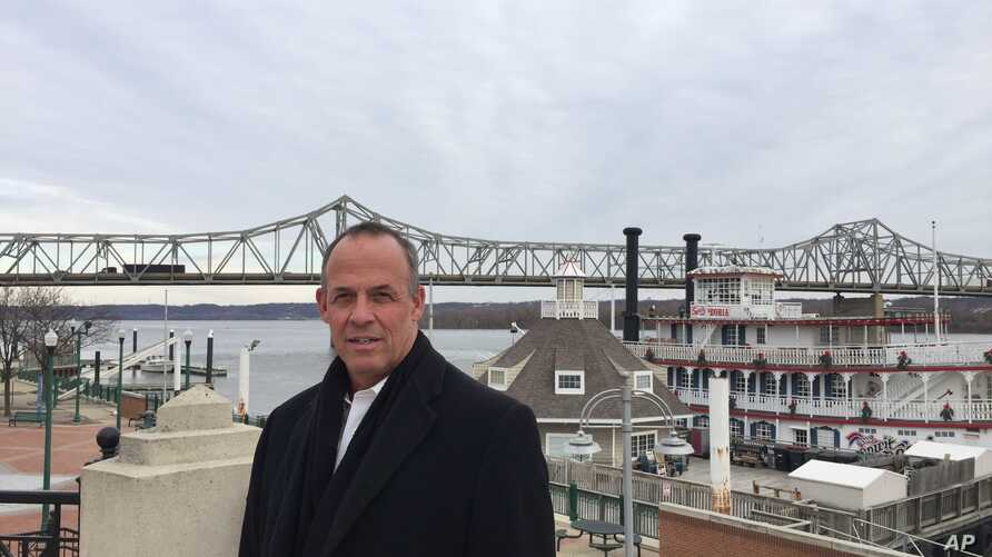Peoria Mayor Jim Ardis poses for a photo in Peoria, Illinois. Caterpillar's recent decision to move 300 top headquarters jobs to the Chicago area made Peoria the latest city looking to redefine themselves as more companies trade longtime hometowns f