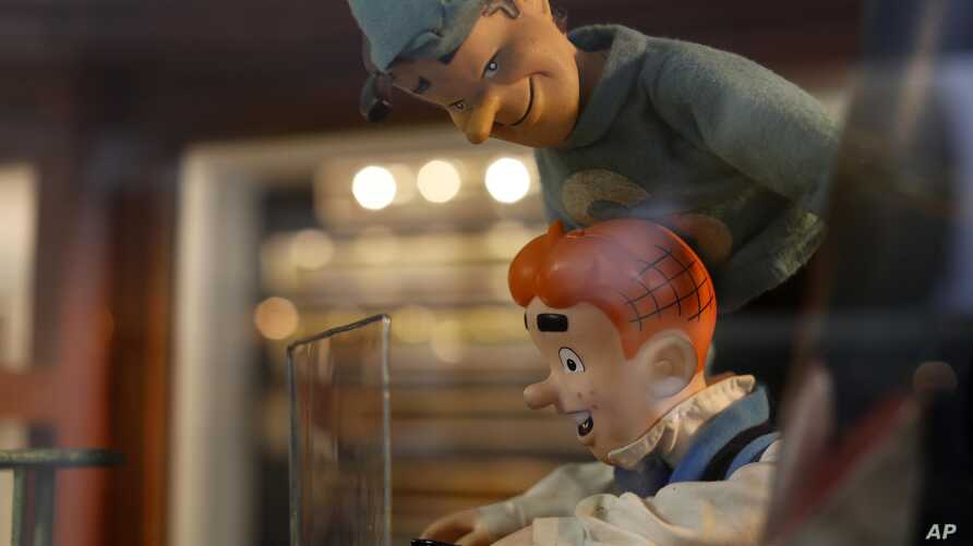 Archie and Jughead dolls are displayed at the Mexico Antique Toy Museum in Mexico City, Jan. 6, 2017.