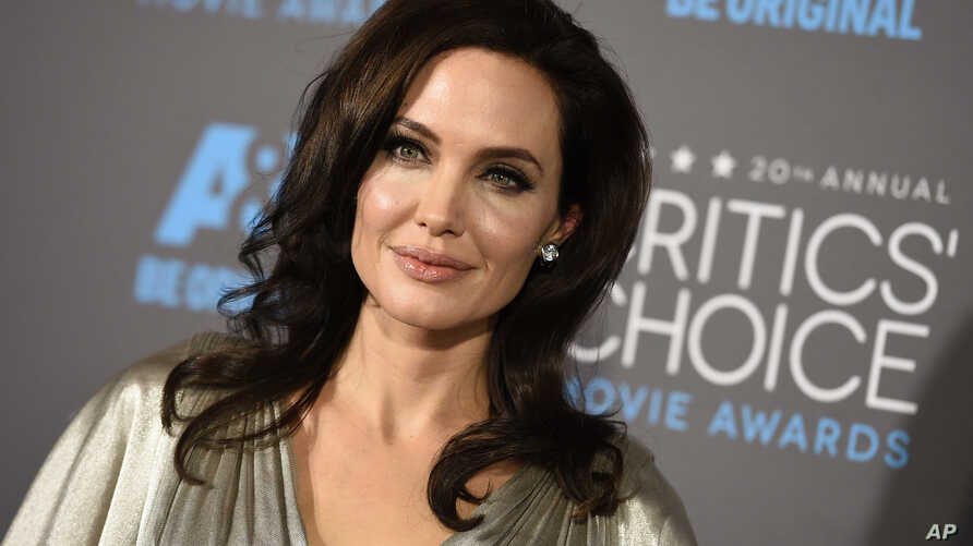 FILE - Angelina Jolie arrives at the 20th annual Critics' Choice Movie Awards at the Hollywood Palladium.