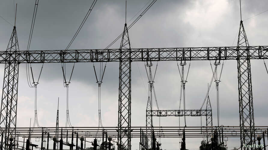 FILE - High-tension electrical power lines are seen at the Azura-Edo Independent Power Plant (IPP) on the outskirt of Benin City in Edo state, Nigeria.