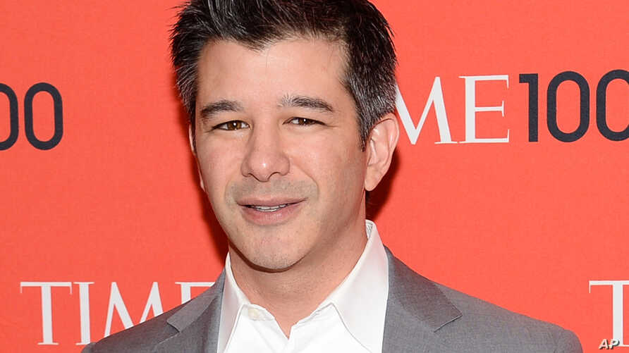 FILE -  Uber CEO Travis Kalanick arrives at the 2014 TIME 100 Gala in New York.
