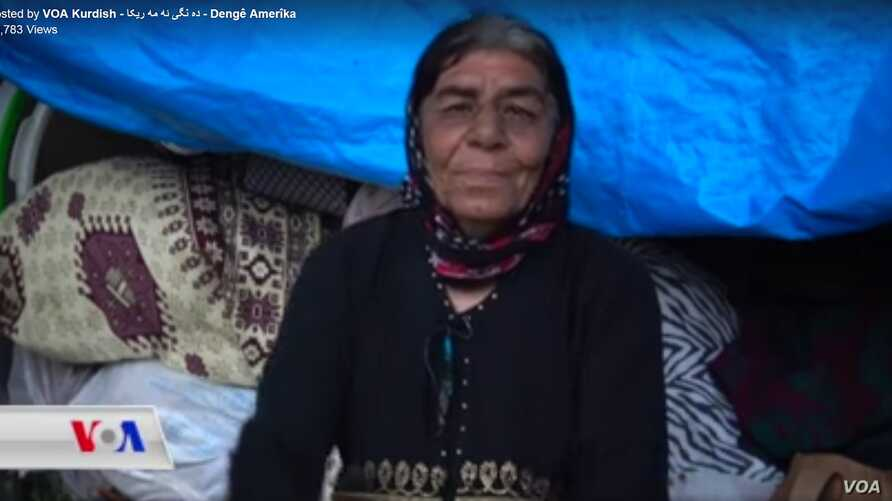 Amina Ali, shown in a screen capture from a broadcast on VOA's Kurdish Service programming, will be offered permanent housing and monthly cash assistance, Kurdish officials said.