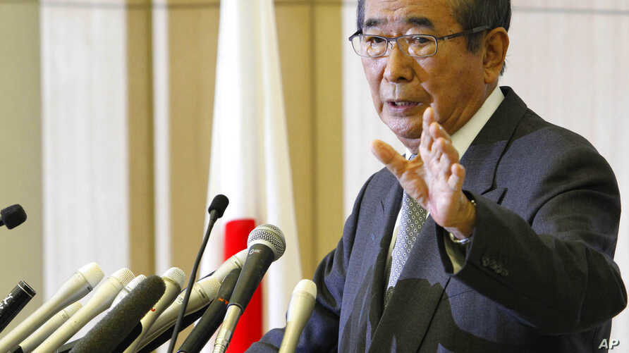 Tokyo Gov. Shintaro Ishihara speaks during a news conference in Tokyo, October 25, 2012.