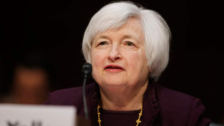 Federal Reserve Chair Janet Yellen testifies about the economy before the Joint Economic Committee of Congress on Capitol Hill in Washington, May 7, 2014.