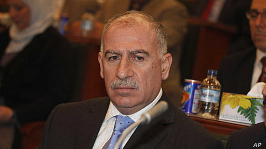 Iraq's Parliament Speaker Osama al-Nujaifi during a meeting for the main Sunni-backed bloc in Baghdad, January 29, 2012