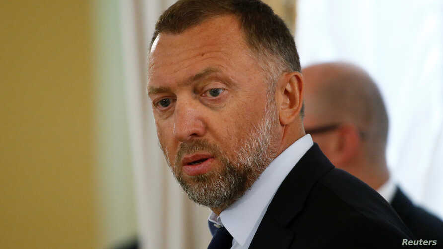Russian metals tycoon Oleg Deripaska is seen before a meeting at the Konstantinovsky Palace in St. Petersburg, Russia, Aug. 9, 2016.