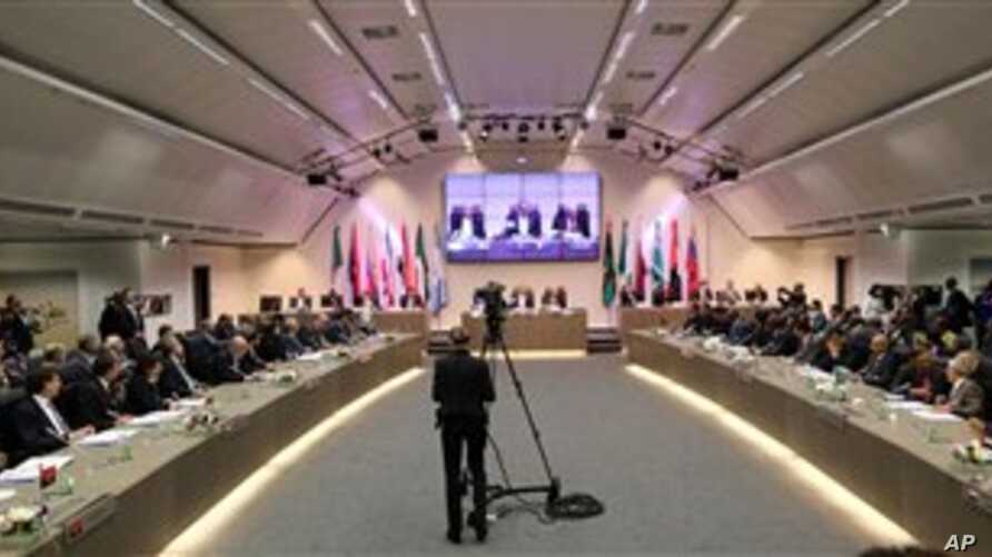 Oil ministers of the Organization of the Petroleum Exporting Countries, Vienna, June 11, 2014.
