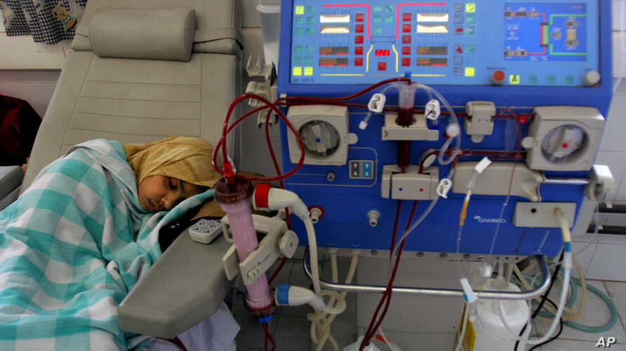 FILE - A dialysis machine at the Shifa Hospital in Gaza City, Apr. 30, 2006.