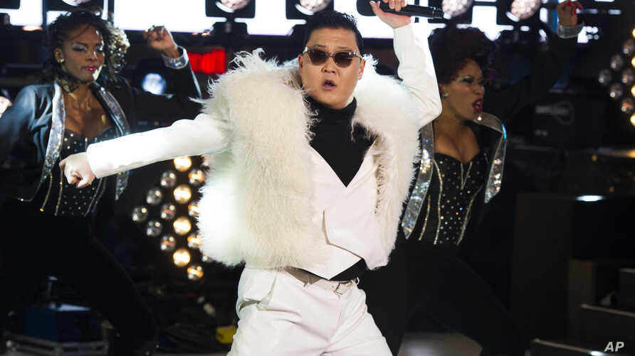 Psy performs in Times Square during New Year's Eve celebrations on Dec. 31, 2012 in New York.
