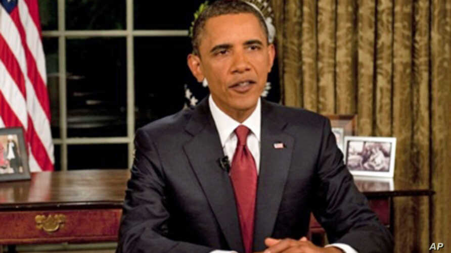 President Obama delivers a nationally broadcast speech on Iraq from the White House Oval Office, 31 Aug 2010