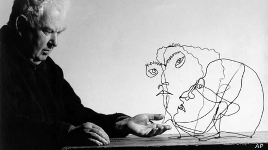 Artist Alexander Calder combined a love of mobiles and portraits in his work, now on display at the National Portrait Gallery.