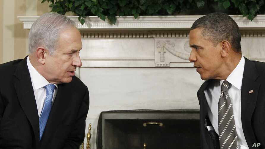 President Barack Obama,meets with Israeli Prime Minister Benjamin Netanyahu in the Oval Office at the White House in Washington, May 20, 2011.