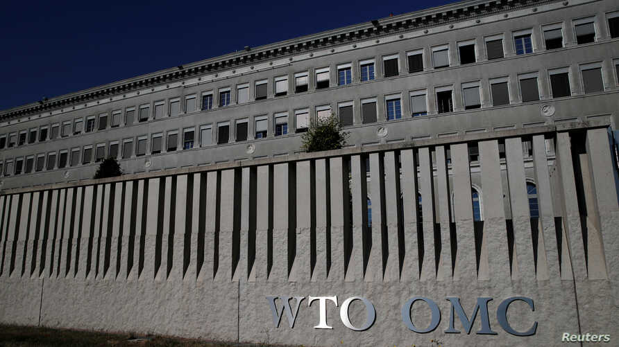 FILE - A view of the World Trade Organization (WTO) headquarters in Geneva, Switzerland.