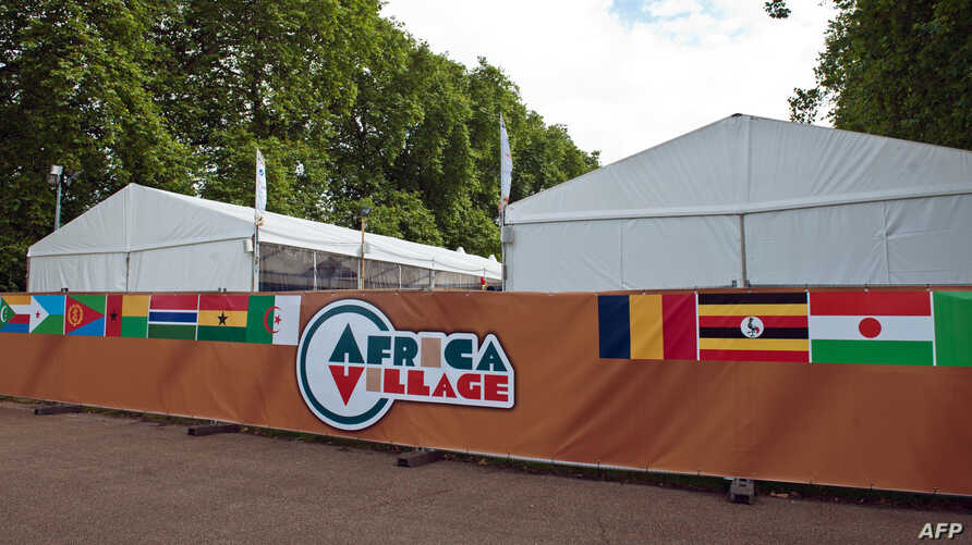 The Africa Village is pictured in central London. Africa Village, the continent's shop window in London during the 2012 Games and its first joint hospitality venue at an Olympics, was closed due to unpaid debts, organizers said, August 8, 2012.