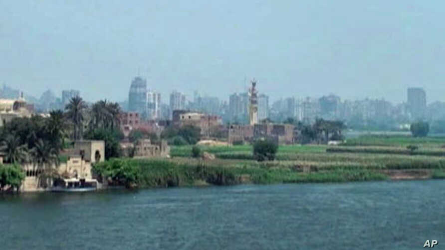 Cairo, the capital of Egypt, on the banks of the Nile River