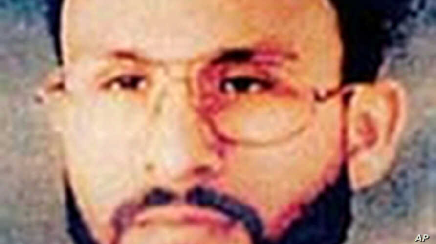 This photo provided by U.S. Central Command shows Abu Zubaydah, date and location unknown. He has appeared at a U.S. government hearing called to determine whether he should remain in detention at the U.S. military prison at Guantanamo Bay, Cuba.