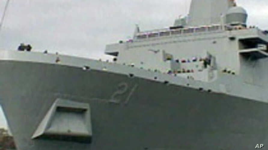 New US Warship's Bow Contains Steel from World Trade Center
