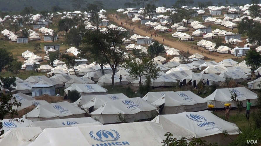Tents stretch out in all directions at the Mahama refugee camp in Rwanda.