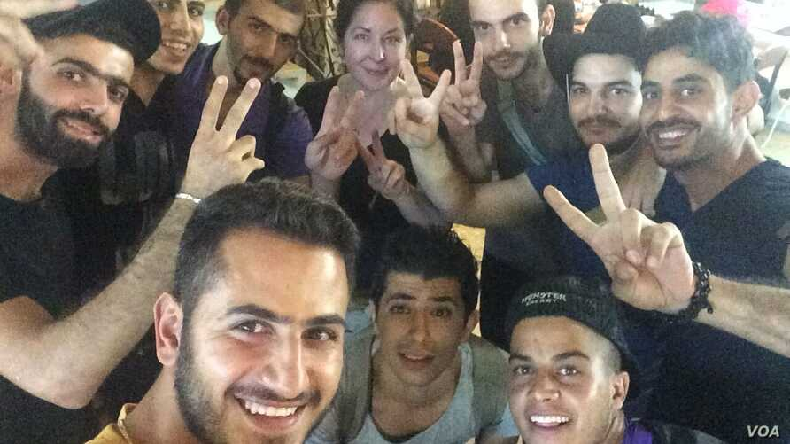 The guys pose for a photo in Izmir, Turkey, before meeting with smugglers.  In 2015 thousands of people died crossing the sea on rubber boats en route to Europe, Sept. 2015.  (Courtesy from group)