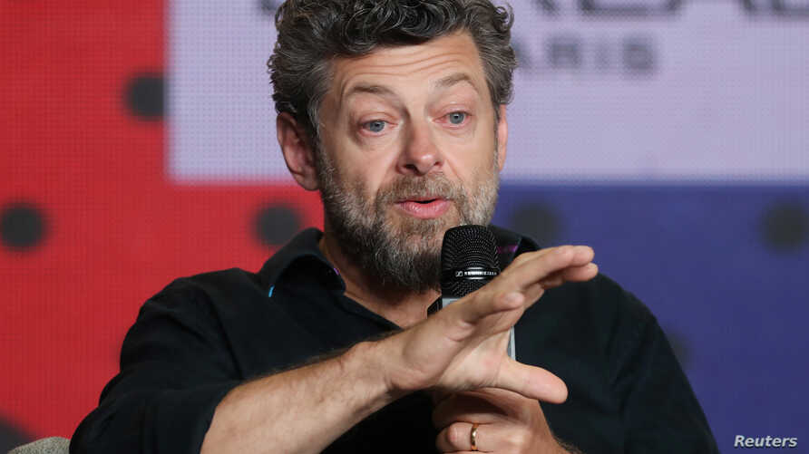 """Director Andy Serkis attends a news conference to promote the film """"Breathe"""" at the Toronto International Film Festival in Toronto Canada, Sept. 12, 2017."""