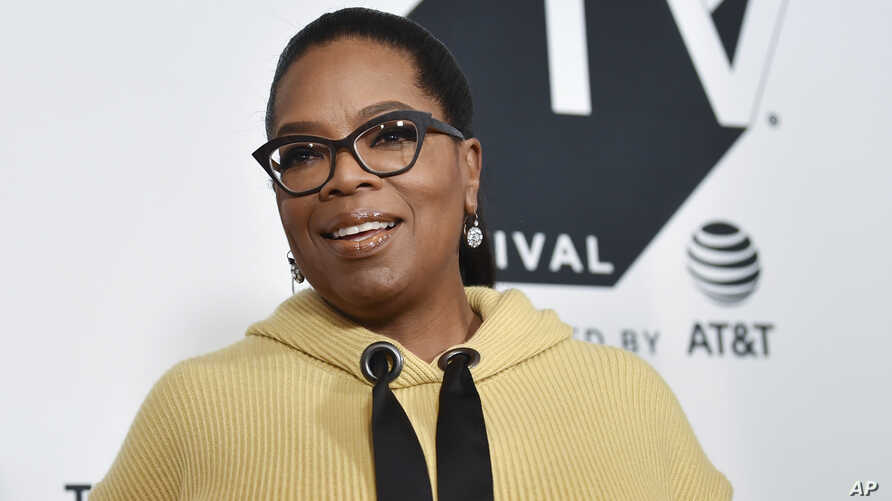 """FILE - Producer Oprah Winfrey attends the """"Released"""" special screening during the Tribeca TV Festival at Cinepolis Chelsea."""