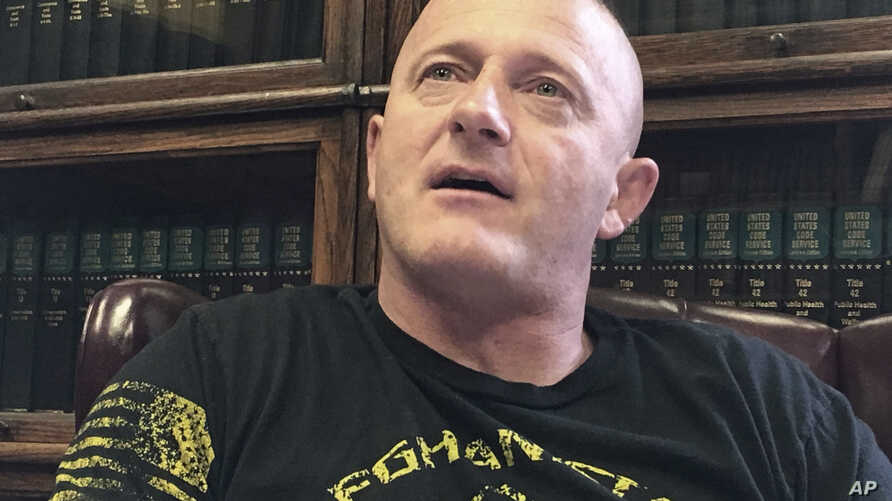 Richard Ojeda talks at his campaign headquarters in Logan, W.Va., May 15, 2018. The retired Army paratrooper is ending his 2020 presidential bid.