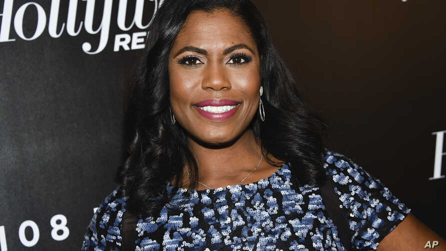 FILE - Television personality Omarosa Manigault attends The Hollywood Reporter's annual 35 Most Powerful People in Media event at The Pool,  April 12, 2018, in New York. (Photo by Evan Agostini/Invision/AP)