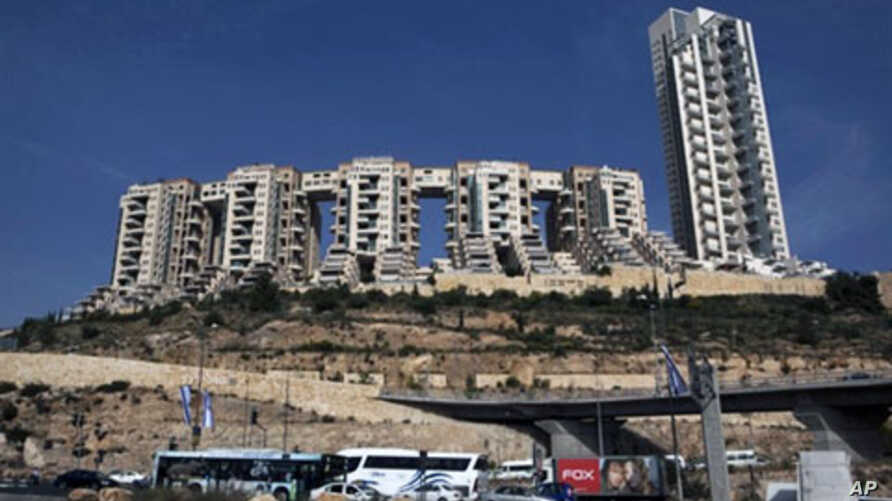 General view of the Holyland luxury apartment complex in Jerusalem, which officials suspect former premier Ehud Olmert received bribes to smooth the way for construction in the 1990s (File)