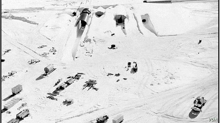 The northeast portal to Camp Century during construction in 1959. (US Army)