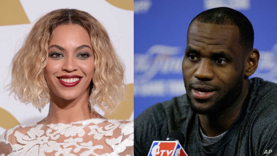 Entertainer Beyonce (left) and basketball star LeBron James head Forbes magazine's list of the world's most powerful celebrities.