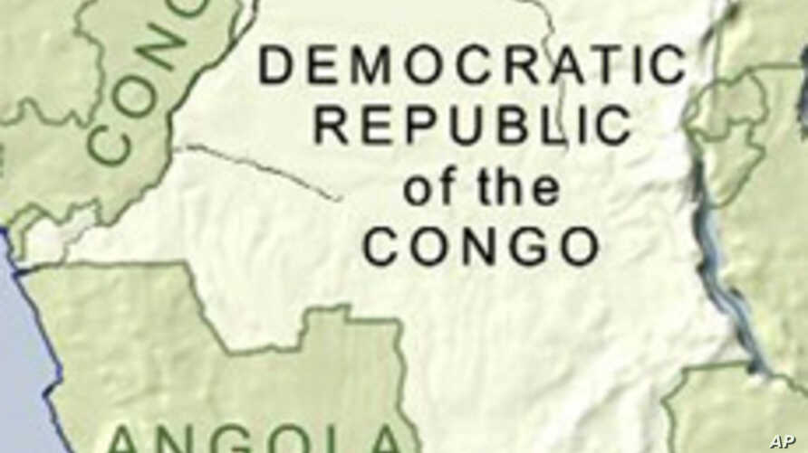 Map of Democratic Republic of Congo