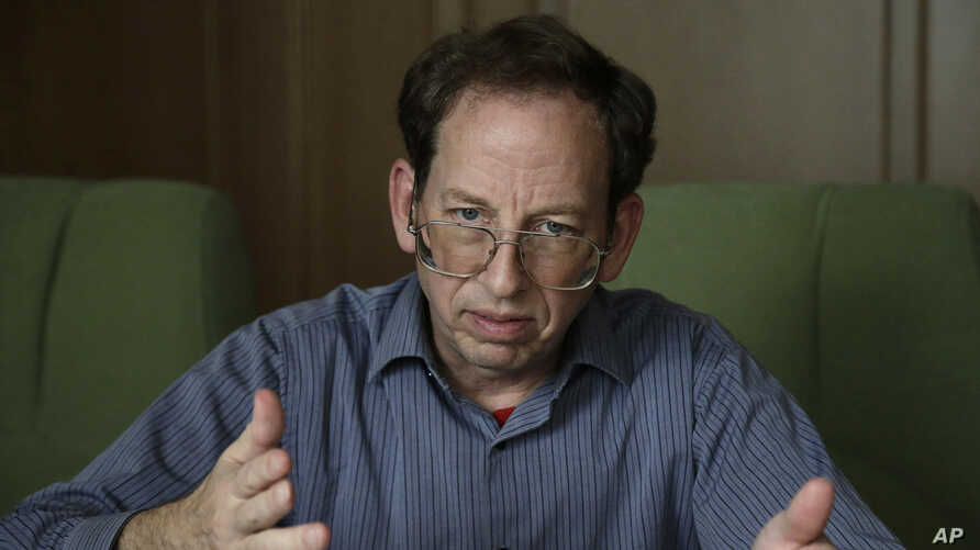 Jeffrey Fowle, an American detained in North Korea, speaks to the Associated Press in Pyongyang, Sept. 1, 2014.