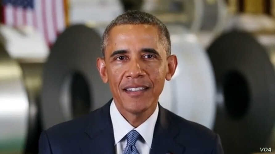 President Obama delivers his weekly address for October 4, 2014.
