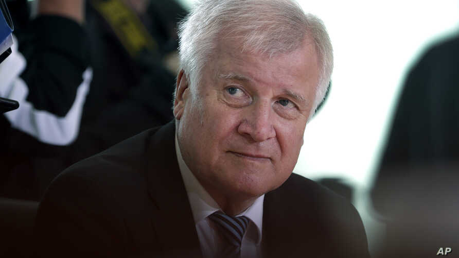 German Interior Minister Horst Seehofer attends the weekly cabinet meeting at the Chancellery in Berlin, Germany, Aug. 29, 2018.