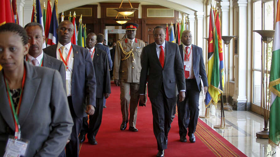 Leaders gather at the African Union summit in Addis Ababa, Jan. 29, 2015.