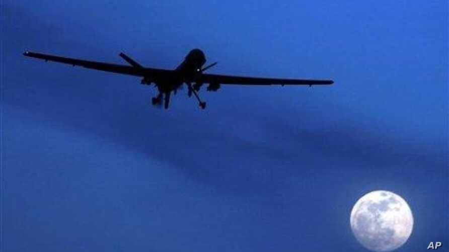 A file picture of a U.S. drone (Predator) in the Afghan-Pakistan region