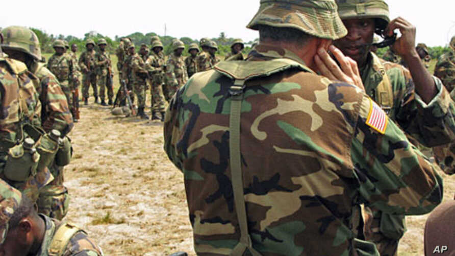 US instructors have been training Liberia's post-civil war army as part of Africom's projects